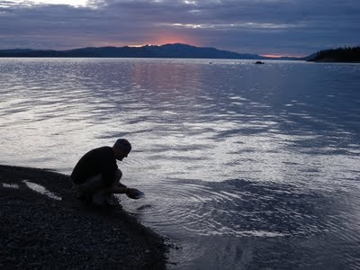A Calm Night on Lake Laberge