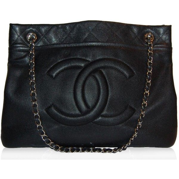Please be mine one day!  Chanel Black Large Tote found on Polyvore