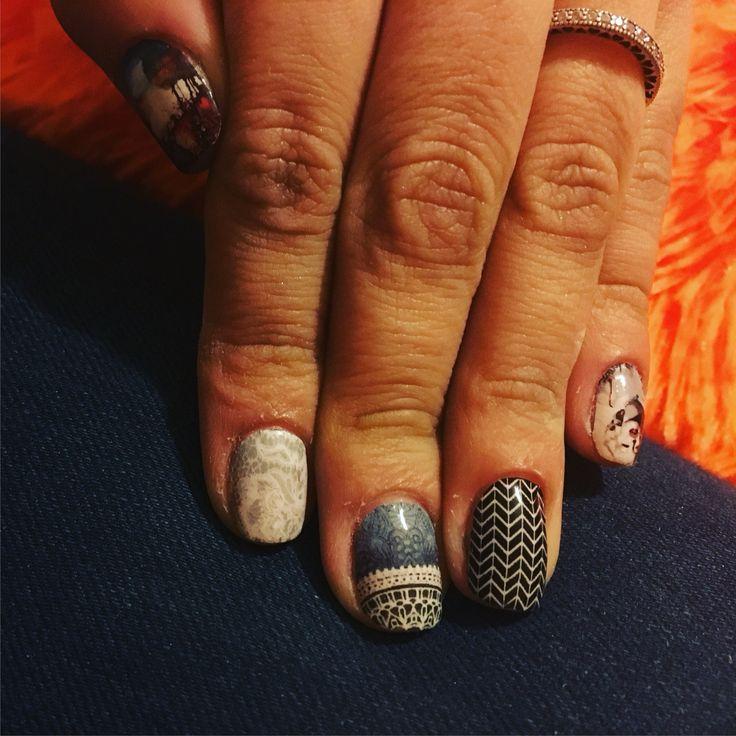 #slider#water#vanilla#nail#art