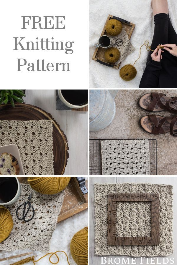 Free Placemat Knitting Pattern Using The Checkered Lace Knit Stitch With A Cotton Linen Blend Yarn Placemats Patterns Lace Placemats Designer Knitting Patterns