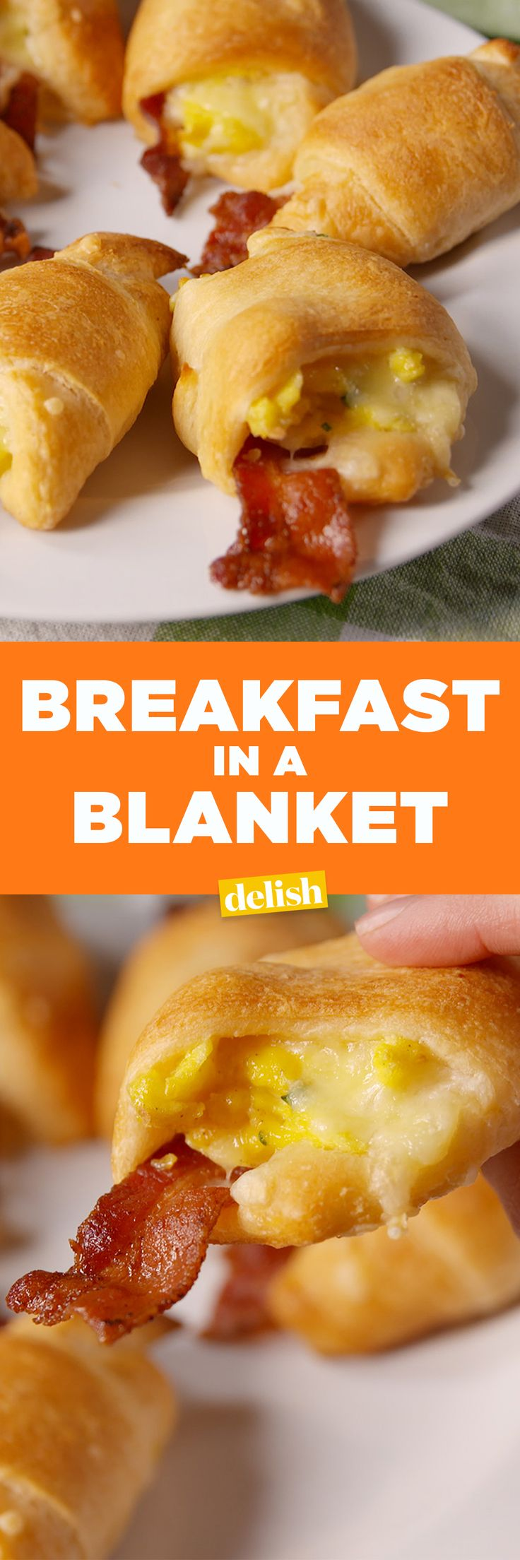 Breakfast In A Blanket is so much better than a McMuffin. I would try with turkey bacon, though.  Get the recipe on Delish.com.