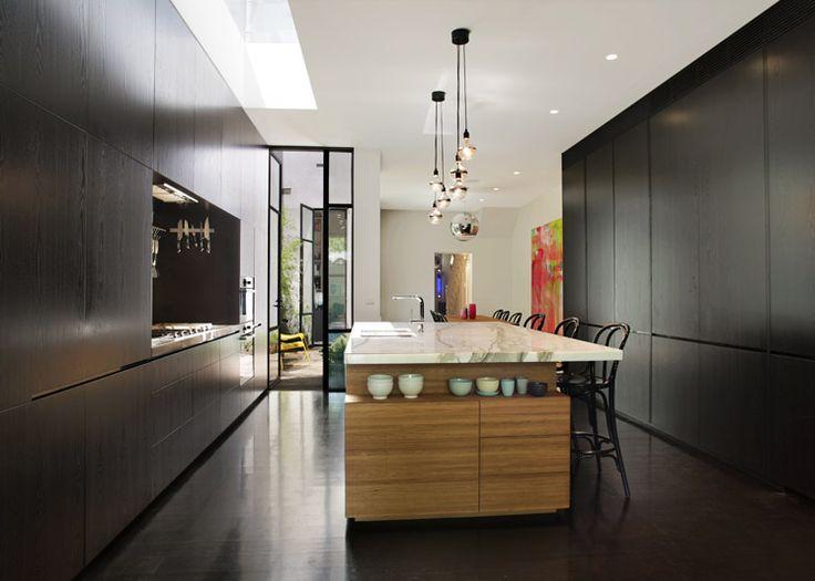 Love the double pendants. Fitzroy Residence_06 | Carr Architecture | Est Magazine