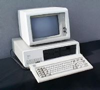 August 12, 1981 - IBM introduces its Personal Computer Model 5150, lending legitimacy to microprocessor-based computers and giving birth to the Personal Computer (PC). IBM's first PC ran with a 4.77 MHz Intel 8088 microprocessor and used Microsoft's MS-DOS operating system.