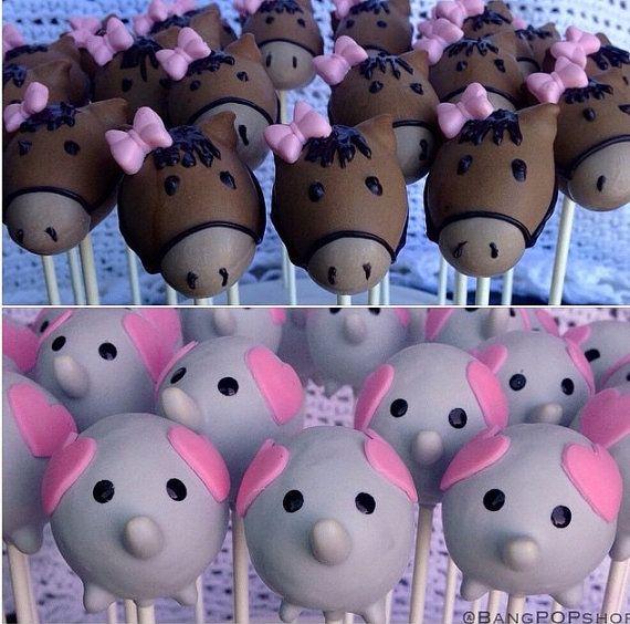 Elephant cake pops Baby Shower cake pops by HazelBasilDesserts