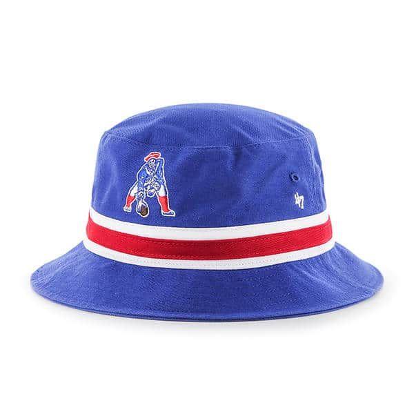 db101b878 New England Patriots 47 Brand Classic Striped Blue Bucket Hat | New ...