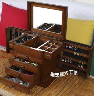 Купить Большой массы твердого дерева шкатулку замуж принцесса стиль ретро макияж хранения поле день рождения почтовых из категории Коробка ювелирных изделий на Kupinatao.com
