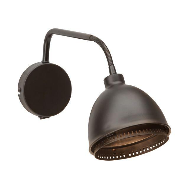 Applique Skirt Noire+Interrupteur P.40cm 18W - CASTORAMA
