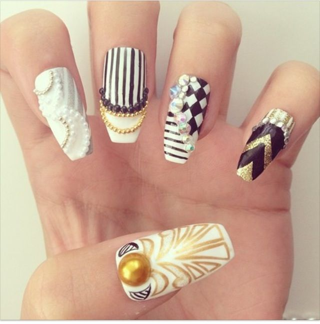 clipped tip stiletto nail swag