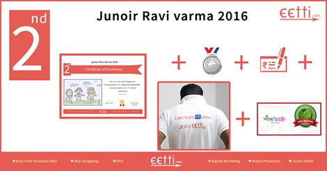 "‪#‎eetti‬ ‪#‎JuniorRaviVarma‬ 2016 2nd Prize for 1st to 5th standard goes to ""R.SAHANA"".  For more details visit https://www.facebook.com/eettidotcom"