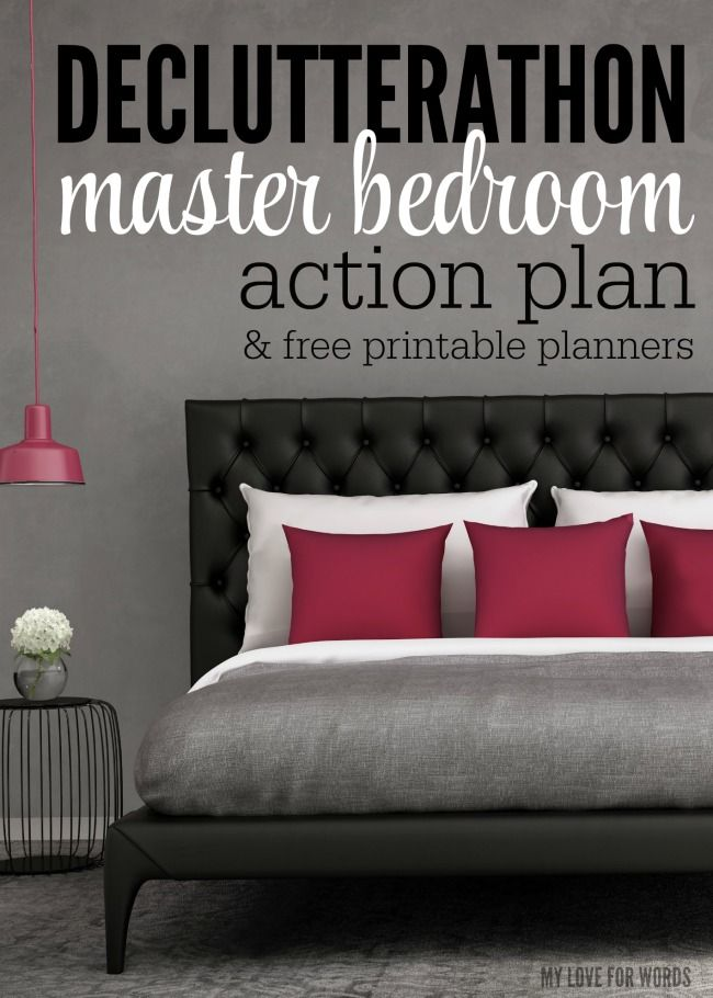 Eliminate clutter once and for all with the Declutterathon: 26 weeks to an organized life. Follow this action plan for a decluttered and peaceful bedroom.