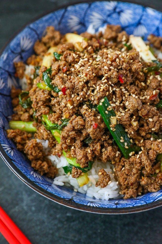 Mongolian Ground Beef Recipe Video Seonkyoung Longest Recipe In 2020 Beef Recipes Ground Beef Recipes Doenjang Recipe