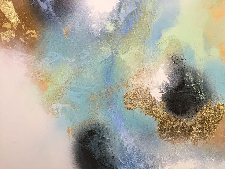 """Sea views"" 1b. 1 m x 1 m. Acryl on canvas."