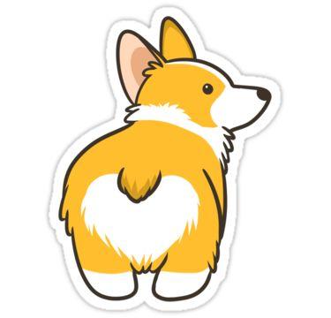 """Corgi Heart Butt"" Stickers by pawlove   Redbubble"