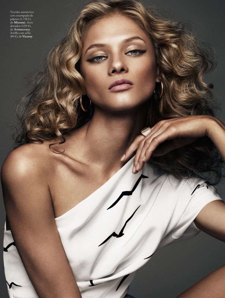 anna selezneva model5 Anna Selezneva is Rock Glam for Elle Spain by Xavi Gordo