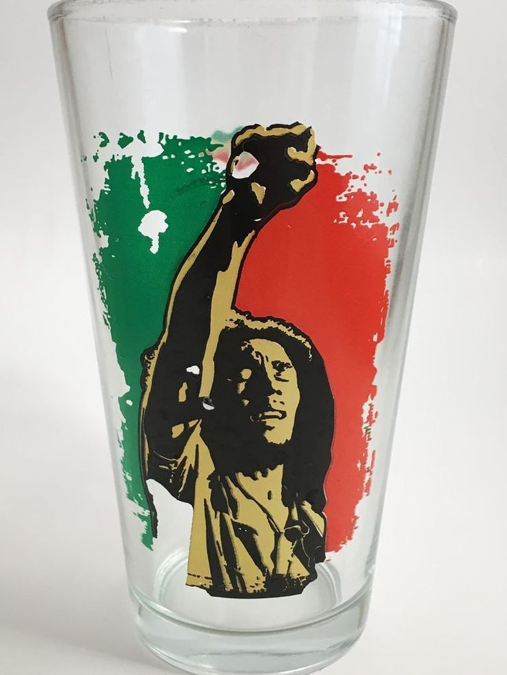 2011 Bob Marley Pint Beer Glasses Bright Colors Excellent Condition Quantity 3