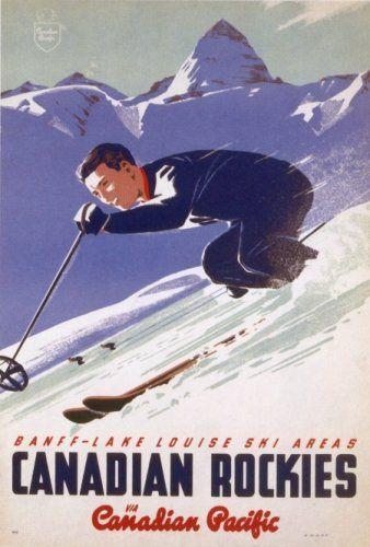 Banff - Lake Louise Canadian Rockies Ski Poster KM Historic Prints,http://www.amazon.com/dp/B004WTEQS2/ref=cm_sw_r_pi_dp_-Va6sb0GM0WADM8M
