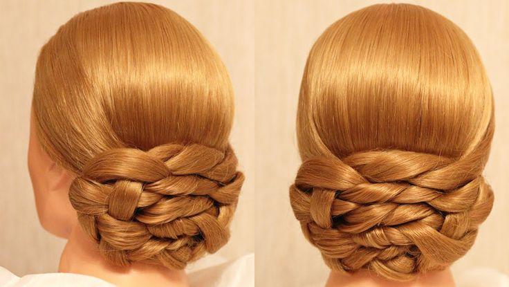 Вечерняя причёска - плетение