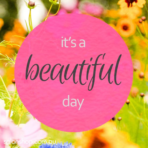Its A Beautiful Day So Have A Lovely One Beautiful Day