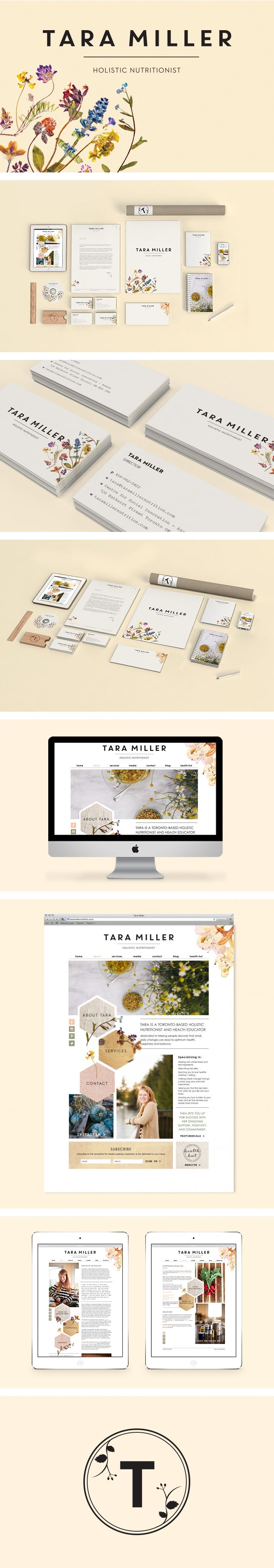 Tara Miller branding by Smack Bang Designs #Branding #BusinessCards #Stationary #Website #GraphicDesign #SmackBangDesigns