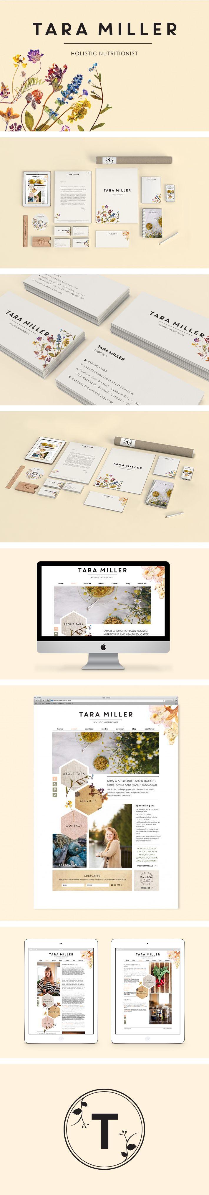 Tara Miller branding by Smack Bang Designs #Branding #BusinessCards #Stationary #Website #GraphicDesign #SmackBangDesigns