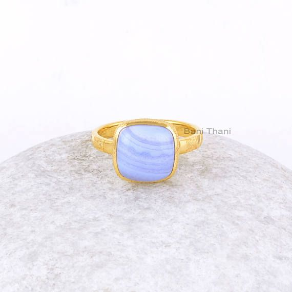 #Blue #Lace #Agate #Ring-#Blue #Lace #Agate #Cushion #Sterling #handmade #etsy #shopping