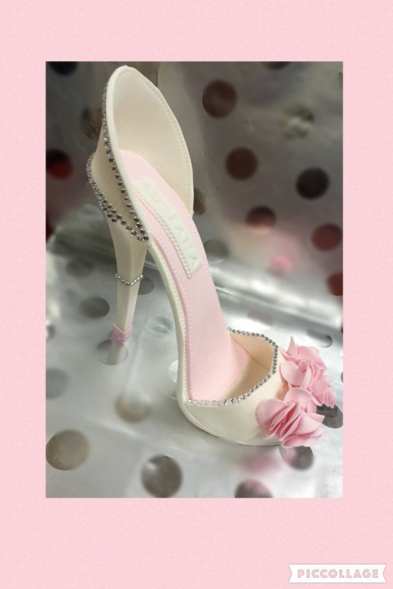 Todays #Etsy #Wedding find: Can you believe this is a cake? Sugar High Heel Shoe/ Cake Topper//Fondant Shoe//Gum paste shoe//gum paste high heel//sugar shoes//cake decorating//high heels//Gift For Her