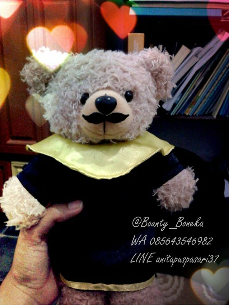 It's mustache-graduationdoll and you'll like it so much. It's so funny. It's handmade and costs IDR 80k.