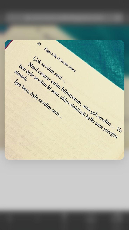 Iste ben oyle sevdim seni..