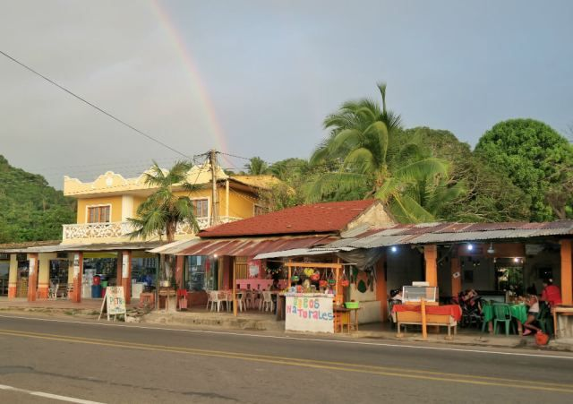Main street in Palomino Colombia