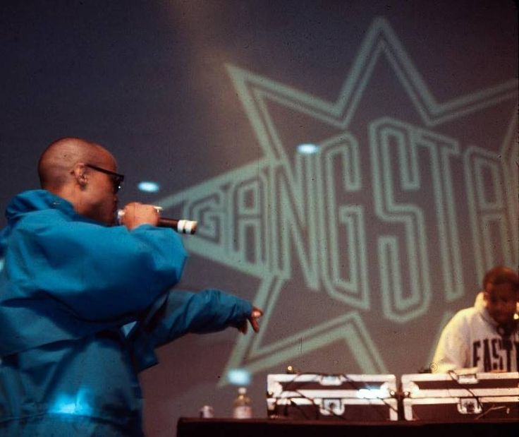 "90shiphopraprnb: ""Gang Starr   NYC - 1993   Photo by Chi Modu """