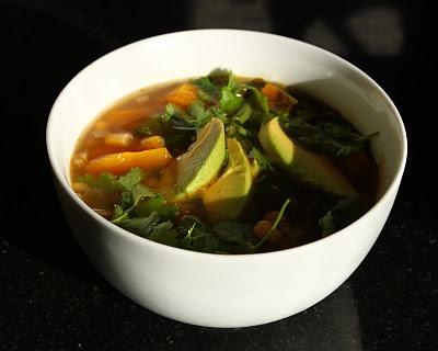 ... Soup with Pumpkin and Avocado via Cobalt Violet LOVE this recipe