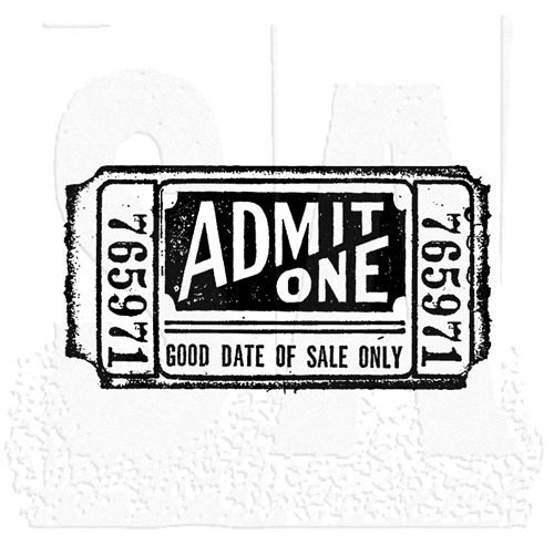 Tim Holtz Rubber Stamp MOVIE TICKET Stampers Anonymous G2