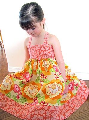 tutorial for how to make this cute little dress!