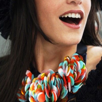 MULTICOLOR CROCHETED NECKLACE by Onique - shop the spring collection at oniqueshop.com   #spring #shine