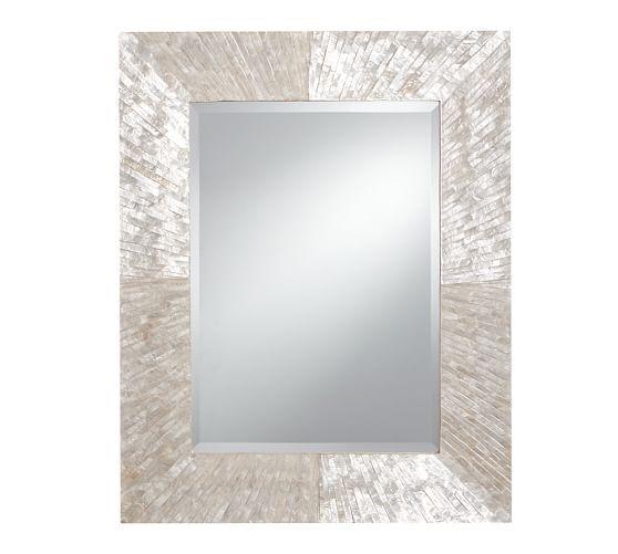 "Miranda Capiz Mirror | 27"" wide x 34"" high x 1"" deep - $349 - Pottery Barn"