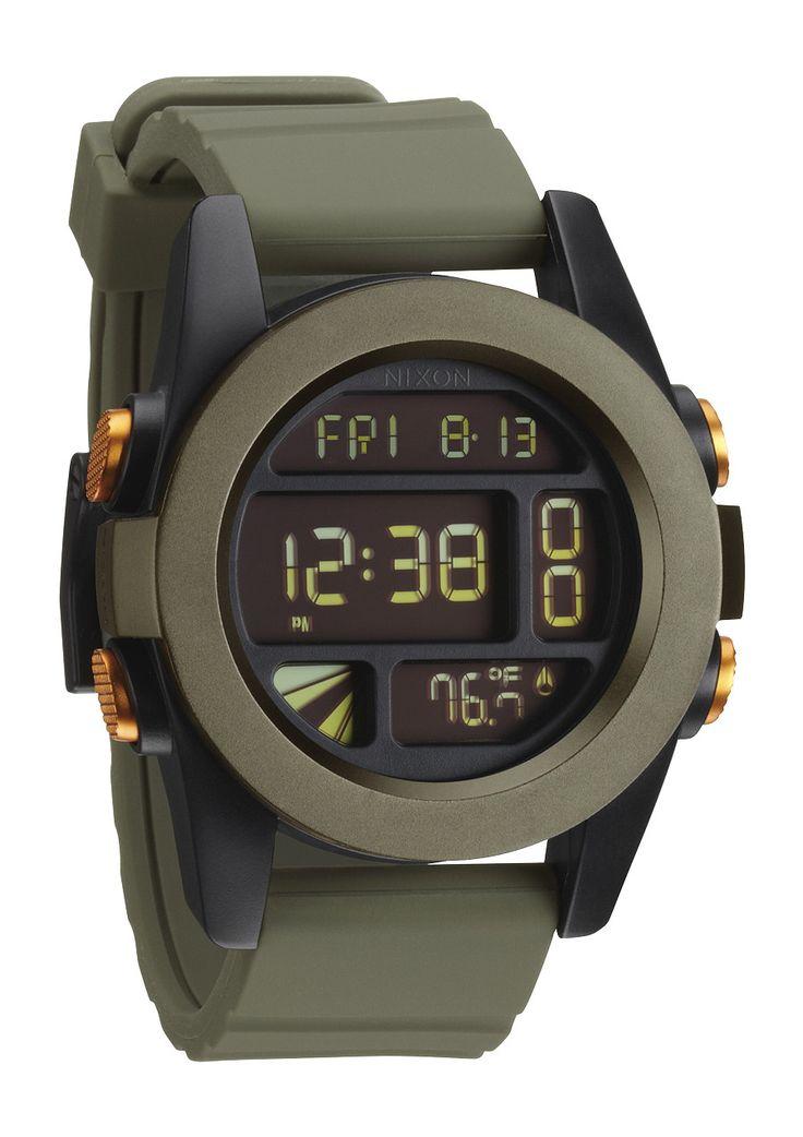 Nixon the unit in surplus black orange ano nixon men pinterest style men for Watches gear