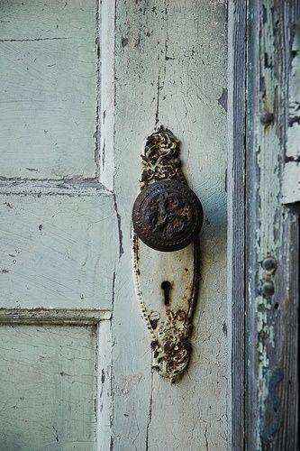 antique metal doorknob old door - Vintage Door Knobs