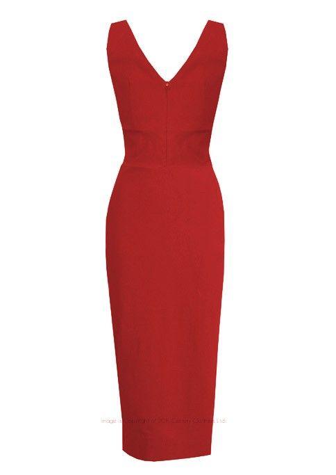 Flot stram sort wiggle kjole i 50'er / 60'er stil