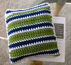 Seat Pad Cushion Free Crochet Pattern. US Terms. Show your team spirit while keeping comfortable and cozy with this free stadium seat cushion crochet pattern!