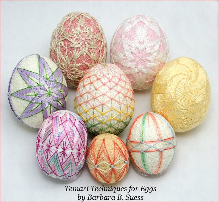 PATTERN Temari Techniques for Eggs.  via Etsy.: