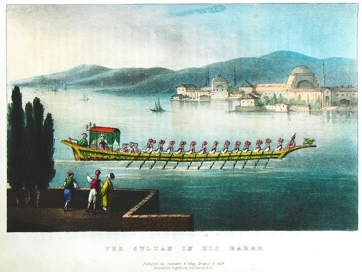 The Sultan's boat entering the Golden Horn. - MAC FARLANE, Charles - GEZGİNLERİN BAKIŞI - Yerler - Anıtlar – İnsanlar Güneydoğu Avrupa - Doğu Akdeniz Yunanistan - Anadolu - Güney İtalya - 15. yüzyıl - 20. yüzyıl