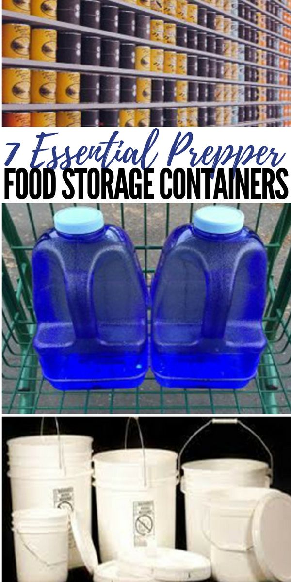 7 Essential Prepper Food Storage Containers - Food storage is essential for preparing for almost any disaster or SHTF situation. What you store your food in can make a big difference in it's shelf life and longevity. There is not just one best container for storing foods, many different types are better for different uses. Whether you need something portable, economical, or all-inclusive there is a specific storage container that can fit your need.
