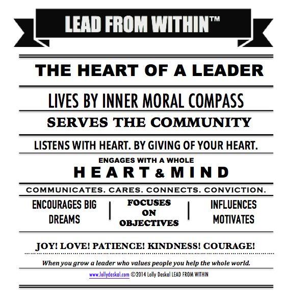 the HEART of a Leader by @Lauren Davison Davison Davison Jane Daskal #leadfromwithin #leadership