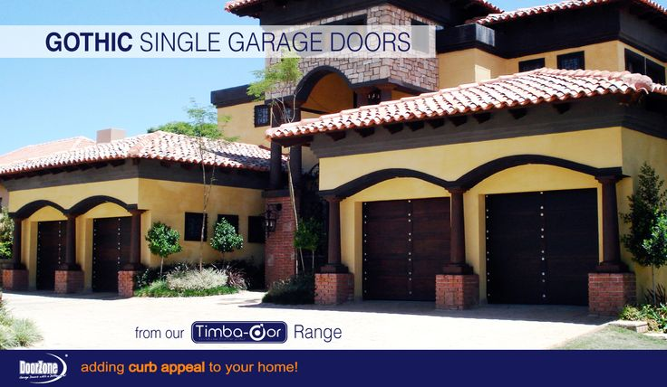 The Gothic Style from our Timba-dor™ Range never gets old. This home's owner chose to go with 4 Gothic Single Garage Doors to add dramatic curb appeal. www.doorzonesa.com