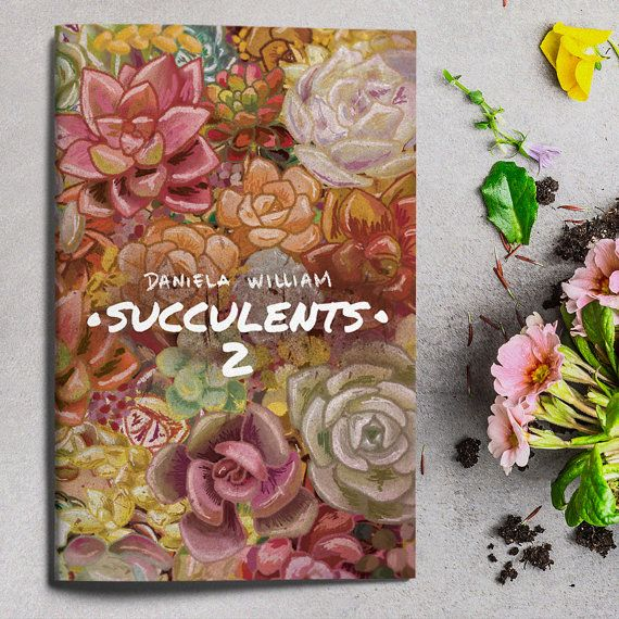 Succulents 2 illustrated fanzine by danielawilliamshop on Etsy