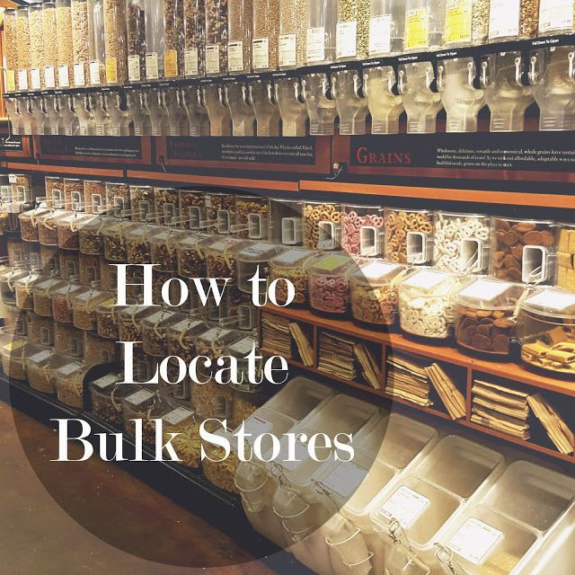 How to Locate Bulk Stores