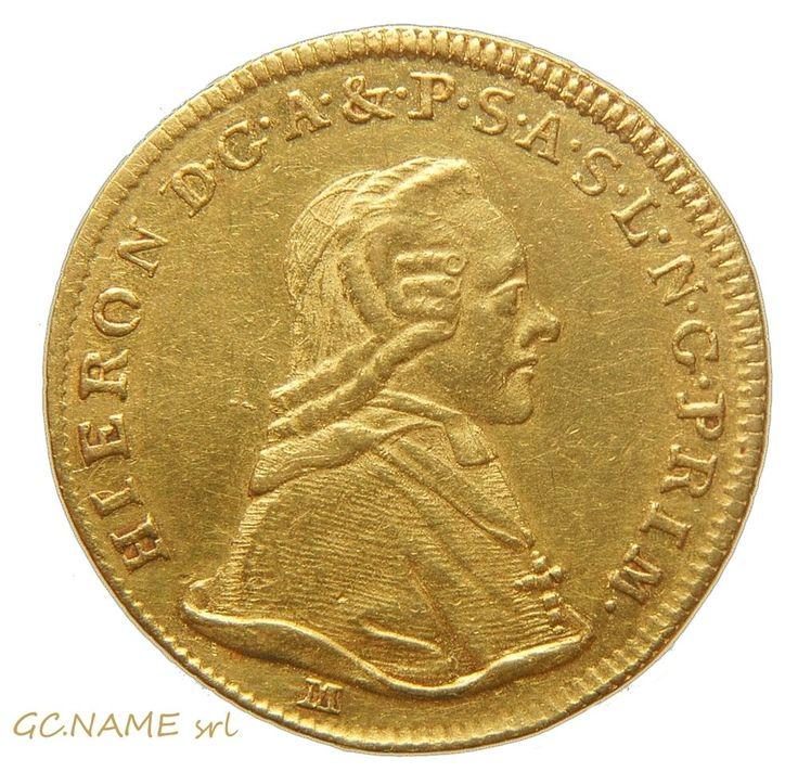 Austria:Salzburg. Hieronymous Graf Colloredo gold Ducat 1791-M #468