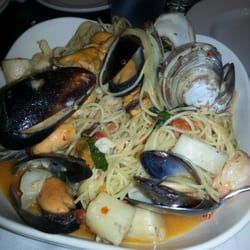 Photo of Village Trattoria - South Orange, NJ, United States. Seafood scampi. Friday night special