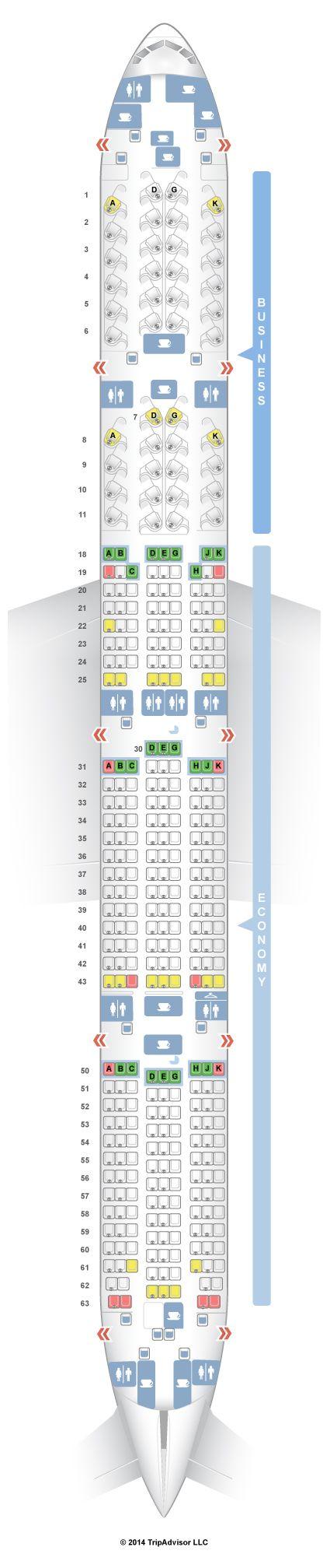 SeatGuru Seat Map Air Canada Boeing 777-300ER (77W) Two ...