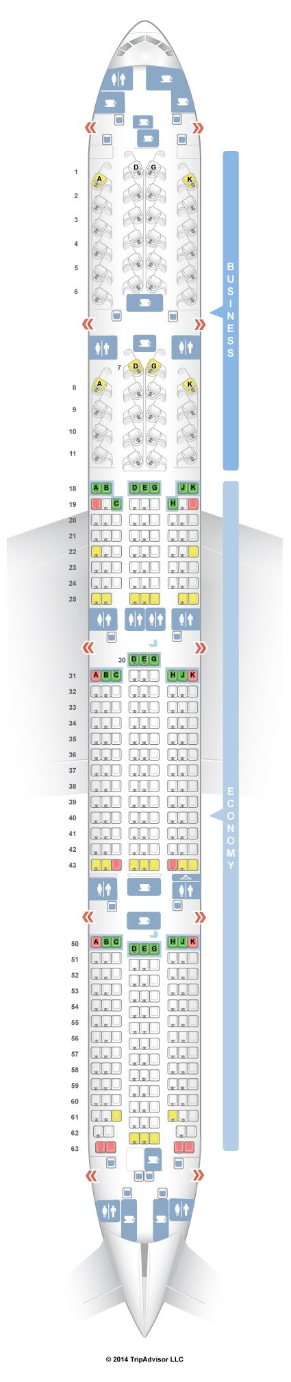 SeatGuru Seat Map Air Canada Boeing 777-300ER (77W) Two Class